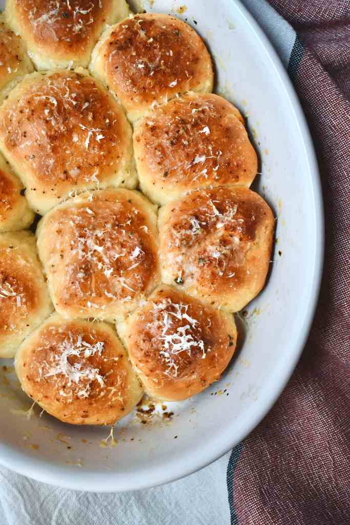 Garlic Parmesan Rolls fresh from the oven
