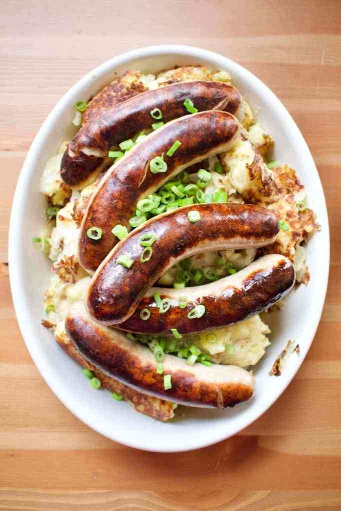 Colcannon Potatoes and Irish Bangers