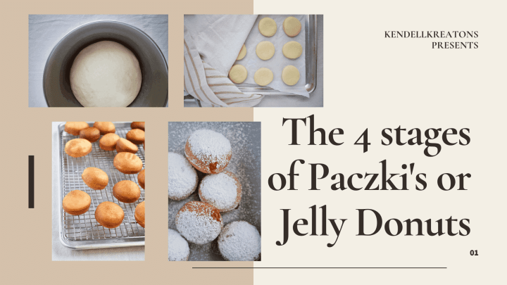 the 4 stages of a jelly donut