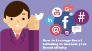 How to Leverage Social Listening to increase your Brand affinity