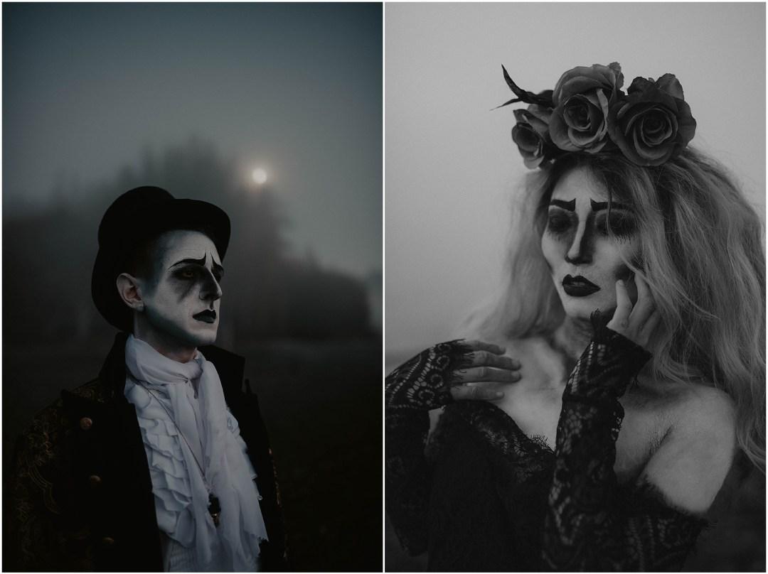 Happy-Halloween, Corpse, Corpse-Bride-Groom, Bride-and-Groom, Face-Paint, Halloween-Photos, Halloween-Lovers, Halloween-photoshoot, Styled-Shoot, Creative-Shoot, Face-Makeup, Dead-Couple, Corpse-Bride, Corpse-Couple, Seattle-Photographer,
