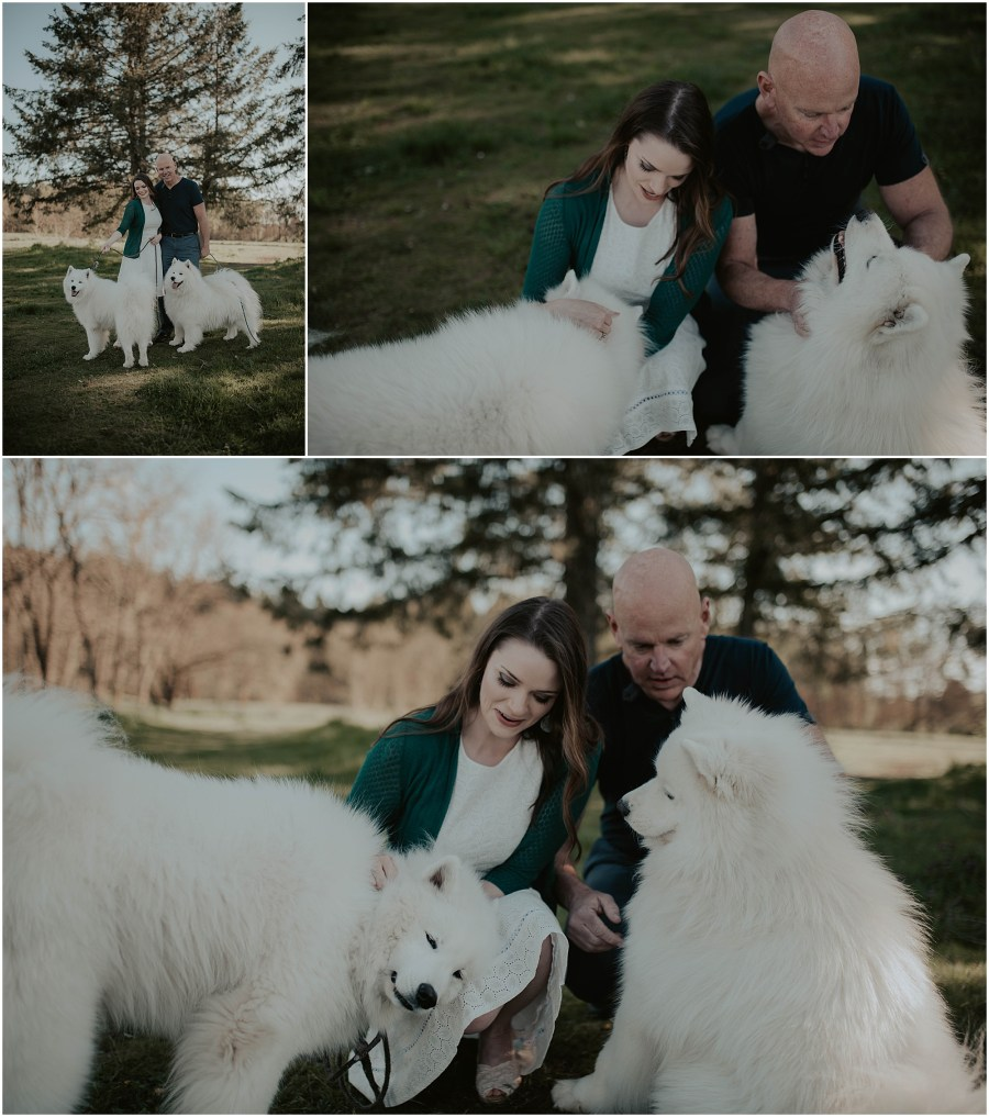 Seward-Park, Seattle-Engagement-photos, Engaged, Engagement-photos, Engagement-Session, Engagement-Photographer, Seattle-Wedding-Photographer, dog-session, Seattle-Intimate-Wedding, Seattle-Wedding, Wedding-Photos, Seattle-Wedding-Photos, outdoor-seattle-Wedding, samoyeds, samoyed-dogs, dog-engagement-photos,