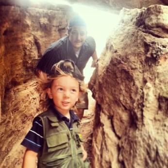 Exploring a cave at Lyman Lake in St. Johns, Arizona. (Photo/Kendra Yost)