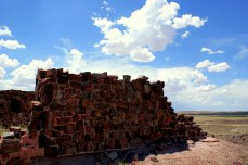 The Agate House in the Petrified National Monument in Arizona. The Agate House is a ruin constructed out of petrified wood. Photo/Kendra Yost