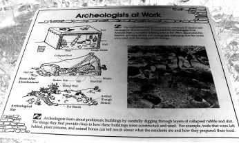 An illustration displays how archaeologists excavated the homes at Shoofly Village in Payson, Arizona. Photo/Kendra Yost