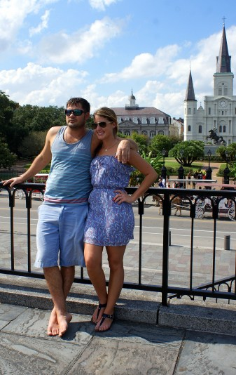 Jeff and Andrea in the French Quarter of New Orleans. Photo/Kendra Yost