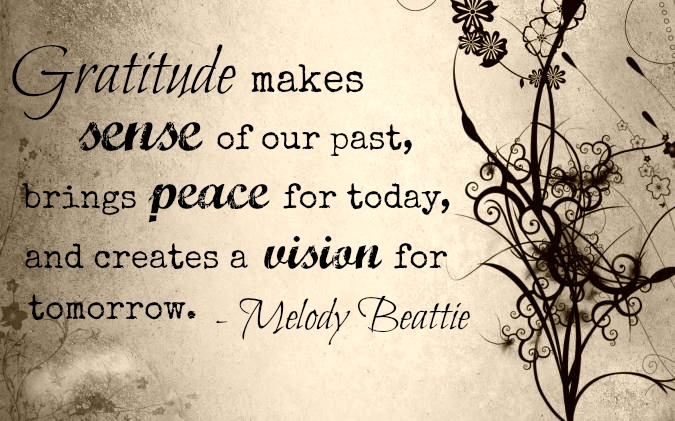 Gratitude Quote from Melody Beattie