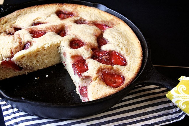 Joy the Baker's Roasted Strawberry Buttermilk Cake