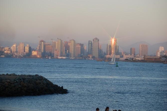San Diego Skyline at Sunset