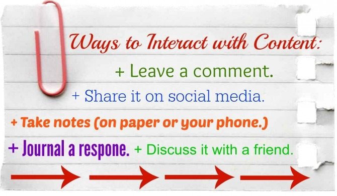 Ways to Interact with Content