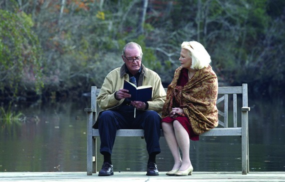 James Garner and Gena Rowland in The Notebook
