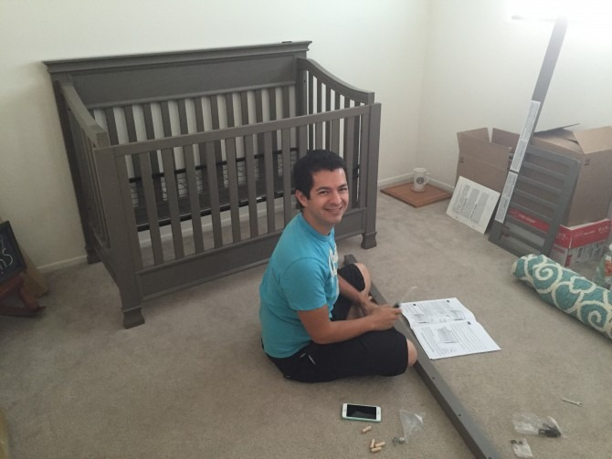 Luke Assembling the Crib
