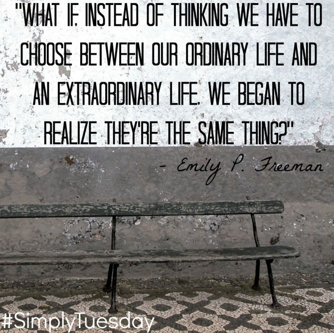 Quotable from Emily Freeman #SimplyTuesday