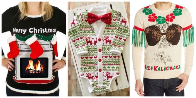 3 Tacky Christmas Sweaters