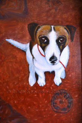 Barney Banana, oil on canvas © 2008 Kendrea Rhodes all rights reserved www.kendreart.com
