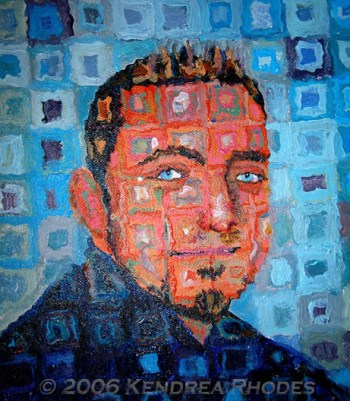 The Sandy-man can, acrylic on canvas ©2006 Kendrea Rhodes All rights reserved www.kendreart.com