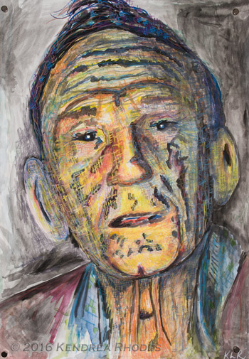 Validation - watercolour and pencil drawing of Charlie ©2016 Kendrea Rhodes