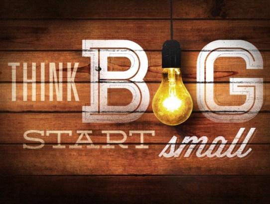 Motivation Monday 7 - Start Small Before Going Big