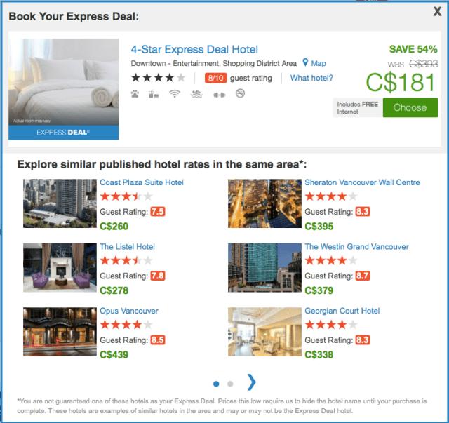 PriceLine List of Hotels