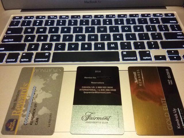 Hotel Elite Status Cards