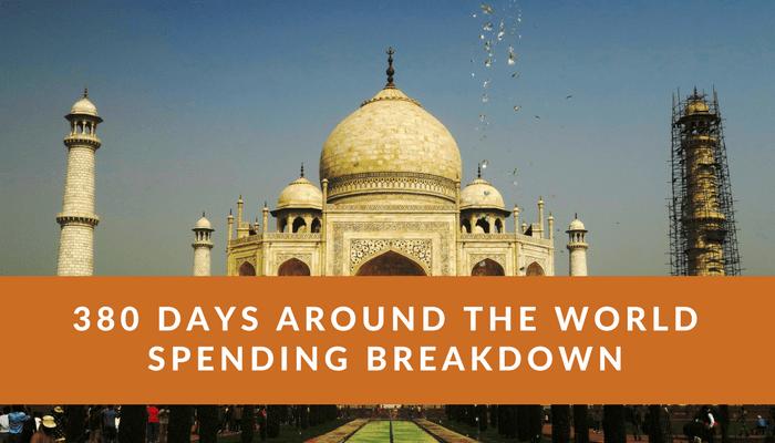 380 Days Around the World Spending Breakdown, My Complete 380 Days Around the World Spending Breakdown