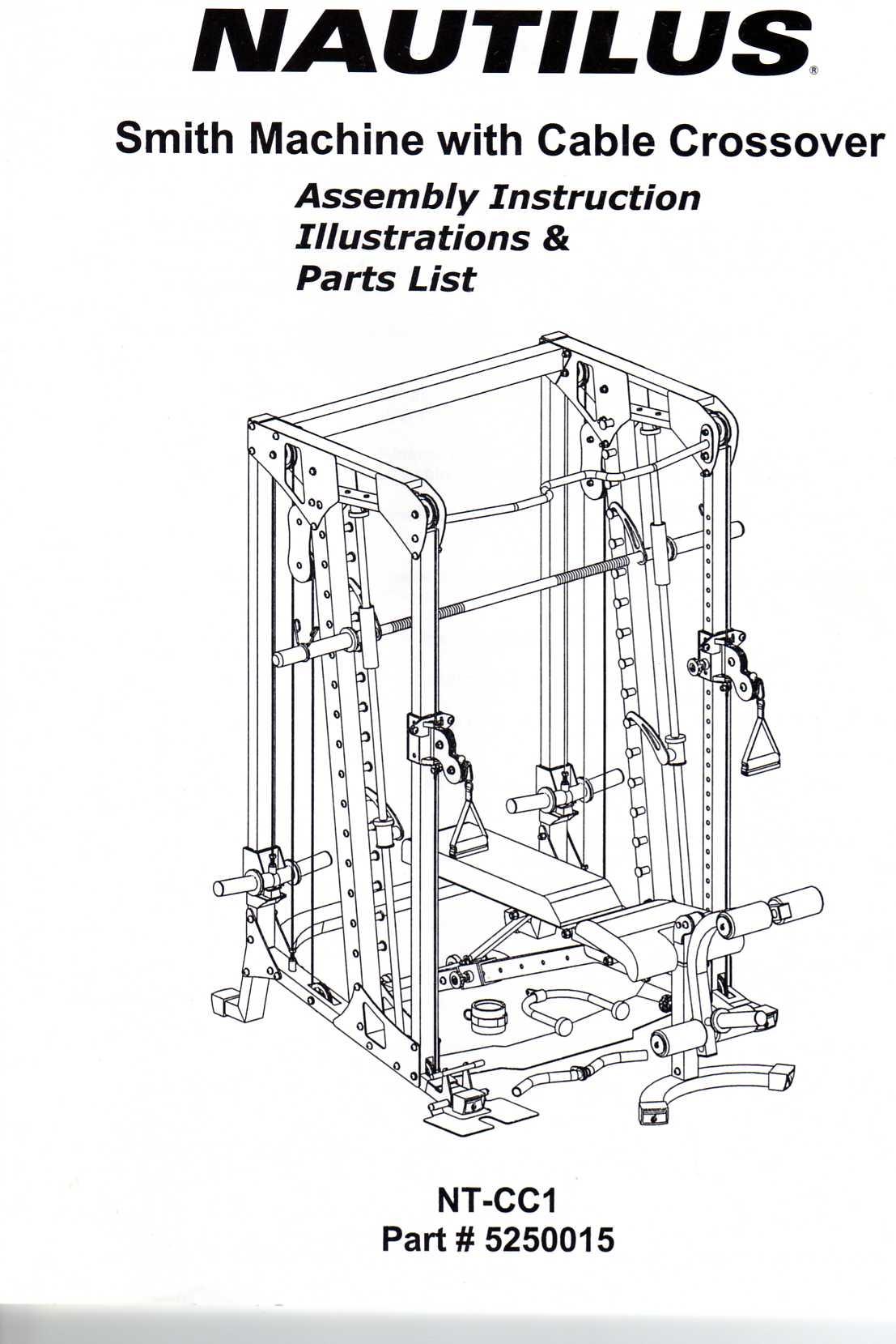 Nautilus NT-CC1 Assembly Manual