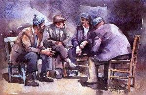 Men discussing politics