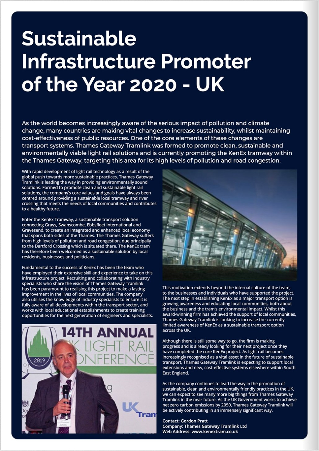 KenEx promoters awarded sustainable infrastructure promoter of the year 2020 by Corporate Vision