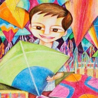 Kenfortes_A boy with Kite