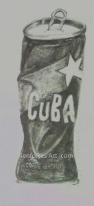 pencil shading Cuba cafe tin Kenfortes art