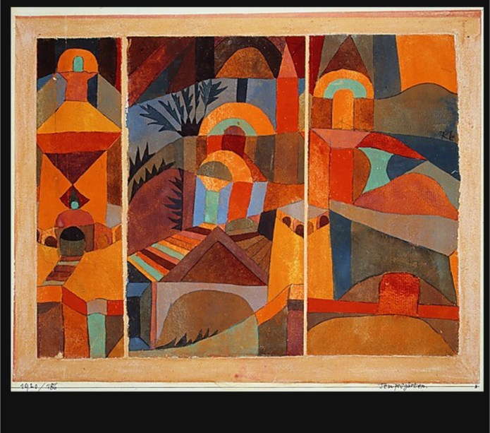 paul klee temple garden kenfortes art class