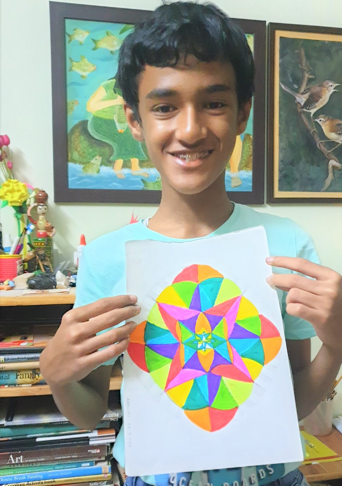 Mandala drawing by ABHINAV