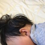 1歳の長男。熱はないものの咳がひどく陥没呼吸も