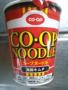 コープヌードル海鮮キムチ味