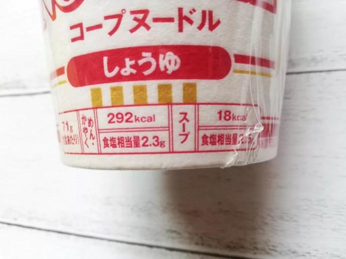 食材宅配コープデリで購入した「コープヌードル」塩分相当量
