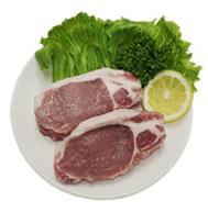 食材宅配パルシステム 産直豚ロースステーキ用(厚切り) 2枚360g