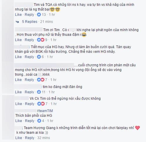Vợ chồng Tim - Trương Quỳnh Anh bị ném đá dữ dội khi trù Hương Giang rớt sớm - Ảnh 5.