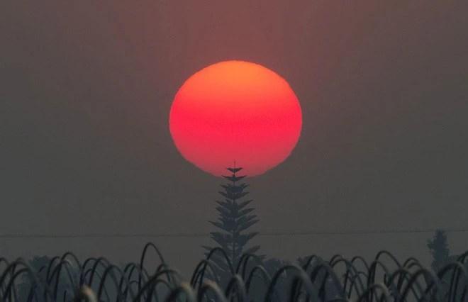 7 ngày qua ảnh: Mặt trời đỏ rực trong cháy rừng ở Mỹ - Ảnh 4.