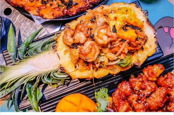 O八韓食新潮流   台中中科商圈超人氣創意韓式料理,鳳梨鮮蝦石鍋拌飯、芒果風味韓式炸雞,夏季新餐點平價好吃又爽口。