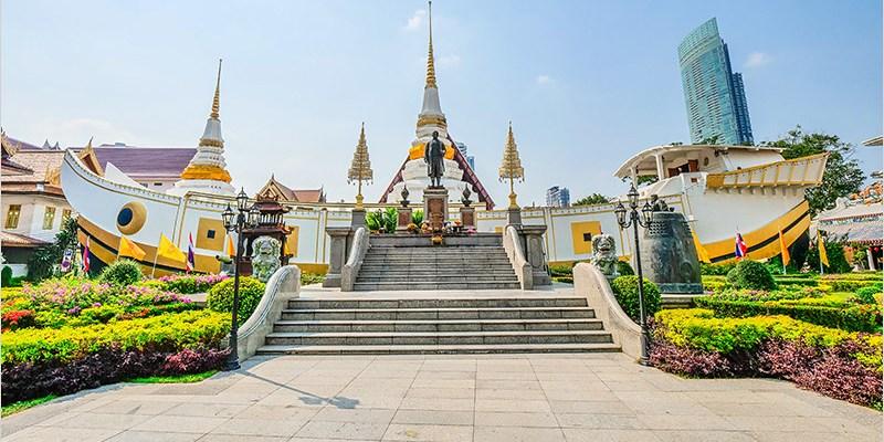 泰國曼谷寺廟 | 龍船寺 Wat Yannawa (Saphan Taksin站)-龍船造型特別的古老寺廟。