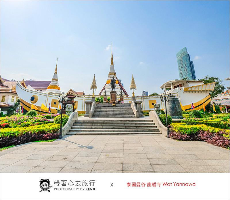 泰國曼谷寺廟   龍船寺 Wat Yannawa (Saphan Taksin站)-龍船造型特別的古老寺廟。