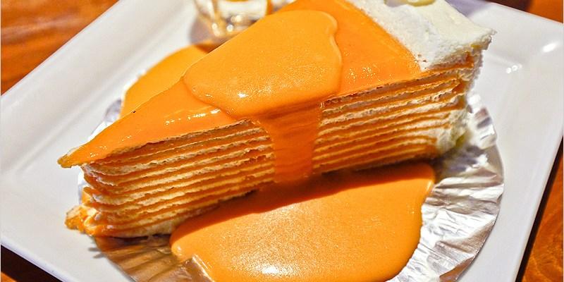 泰國曼谷咖啡廳   White Flower Factory (BTS Siam站)-泰式奶茶千層蛋糕綿密口感好濃香、好好吃啊!