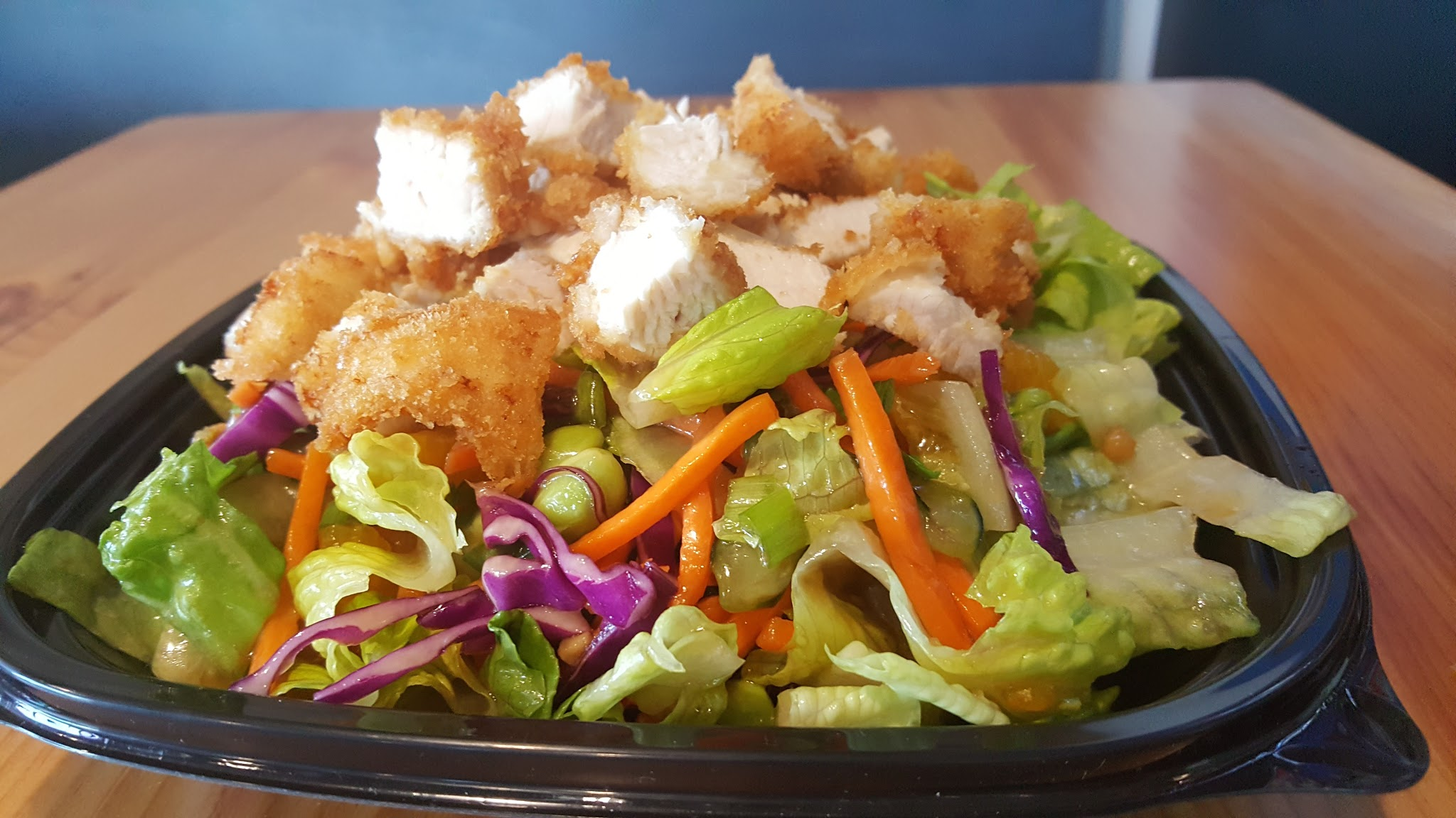 Salad with Panko White Chicken