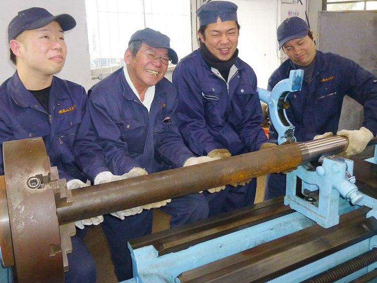 kenki corporation moriyama corporation photographs of employees lathe
