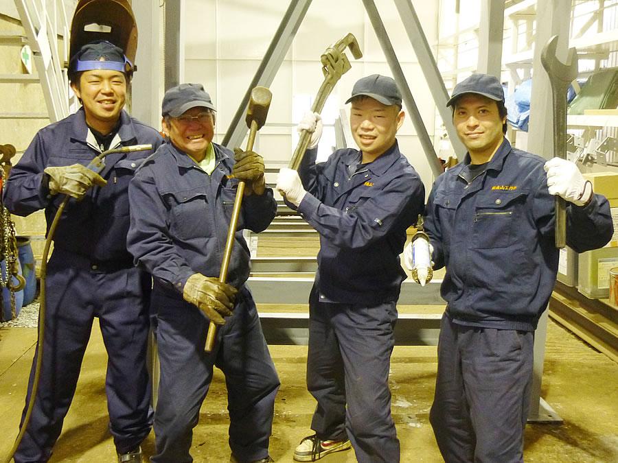 kenki corporation moriyama corporation photographs of employees welding