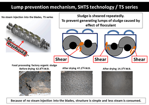 lump prevention mechanism SHTS technology