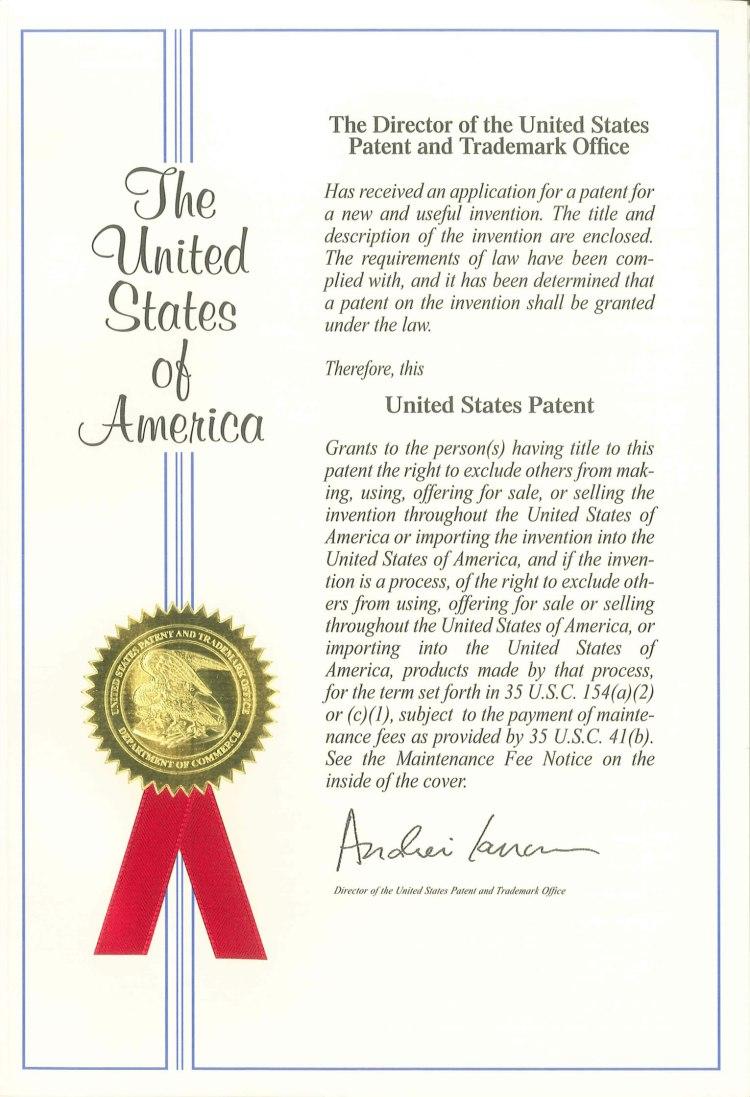 US second patent KENKI DEYER 2018.5.26