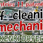 self-cleaning mechanism sludge dryer KENKI DRYER 09082021