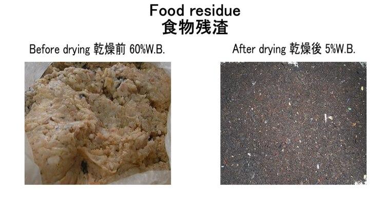 食物残渣 乾燥前後 2017.10.1