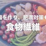 食物繊維は美腸・肥満対策にも?食物繊維の役割・不足時・食事での補給法をまとめてみた!